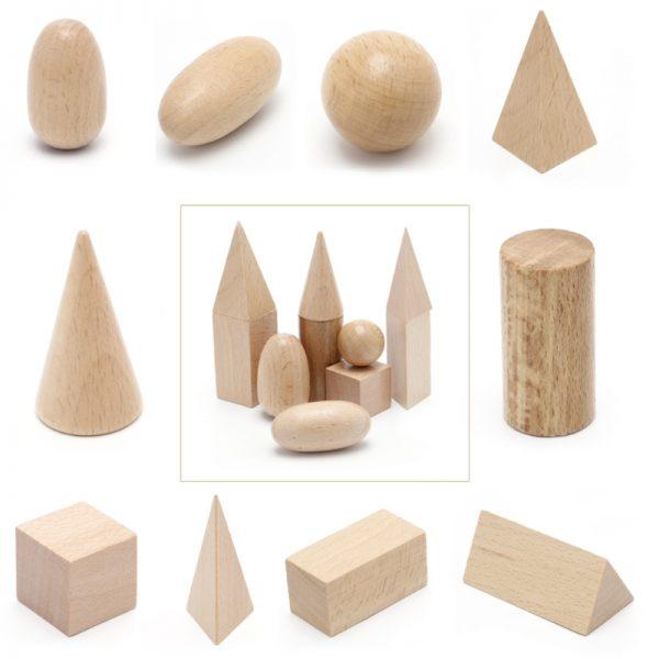 Les Solides en Bois Montessori