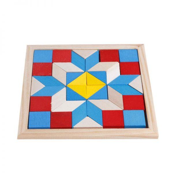 Puzzle Géométrie en Bois