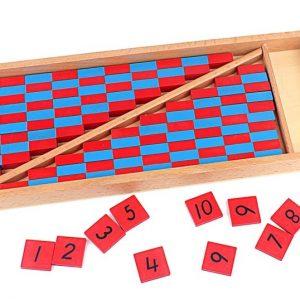Barres Numériques Rouges et Bleues (Taille moyenne)