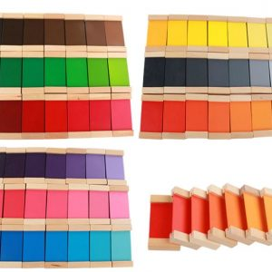 Boîtes des Tablettes de Couleurs Montessori