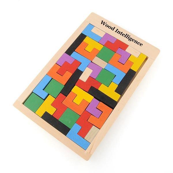 Puzzle Tetris en Bois Montessori
