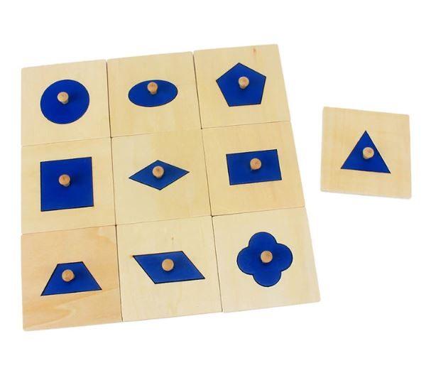 Puzzle à 10 Formes en Bois
