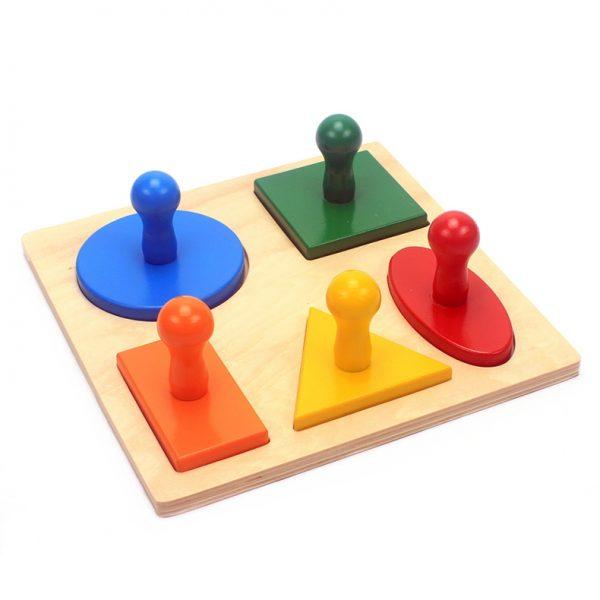 Puzzle à 5 Formes Géométriques
