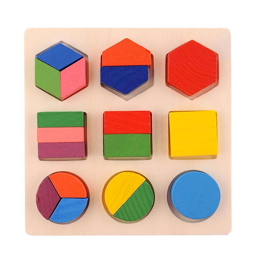 Puzzle des Fractions en Bois