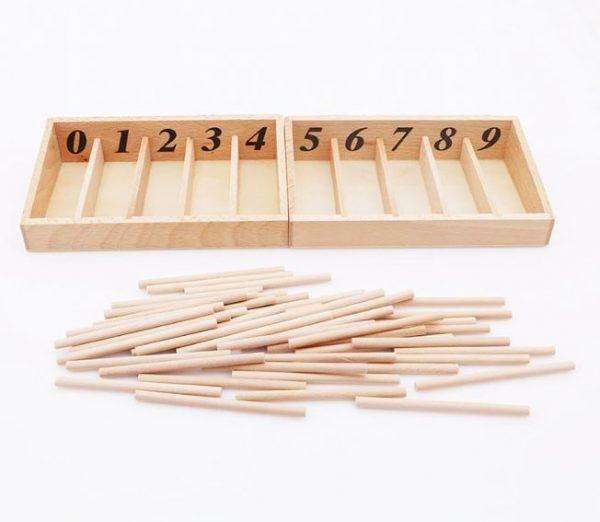 Boîte de fuseaux numériques Montessori
