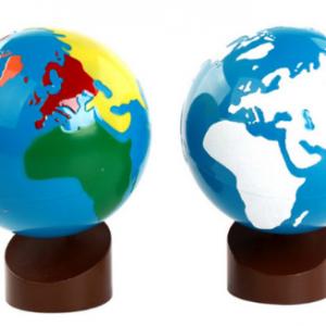 Globe Coloré et Globe Lisse et Rugueux