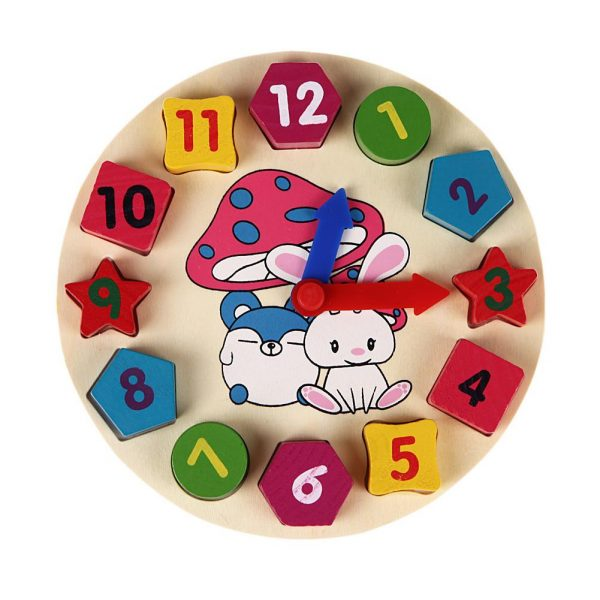 Multicolored Wooden Clock