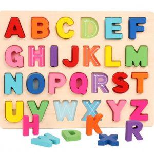 Alphabets en Bois Multicolores