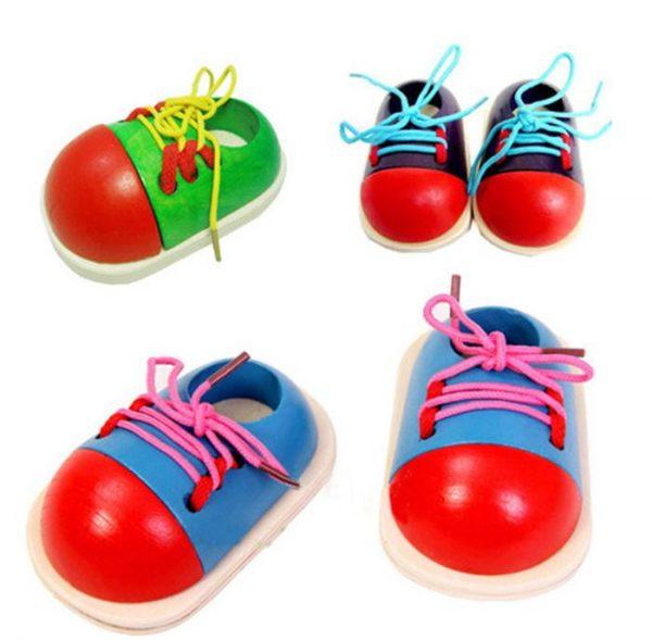 Chaussure en Bois à Faire soi-même ses Lacets