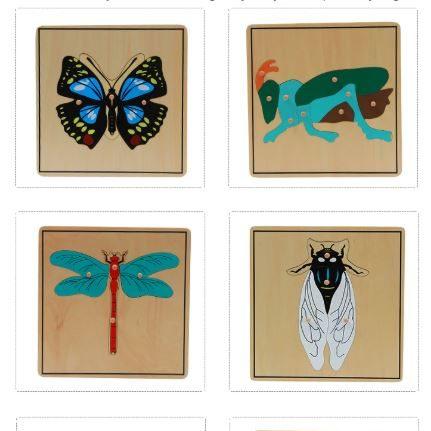 Wooden Insect Puzzle Montessori