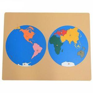 Welt Planisphäre Puzzle