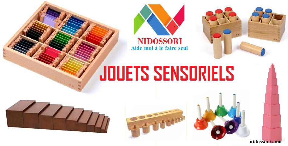 Jouets sensoriels Montessori