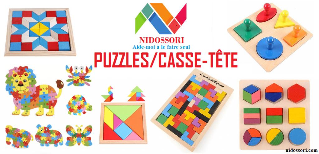 Puzzles en Bois Montessori