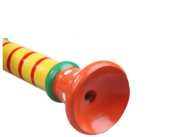 trompette multicolore en bois
