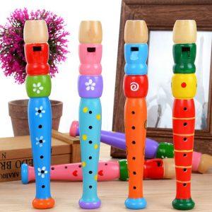 Flûte Multicolore en Bois