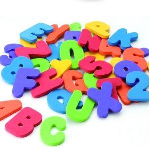 GRATUIT Lettres et Chiffres Multicolores (36 pièces)