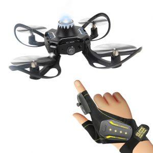 Mini Drone Quadrirotor avec Gant Gestuel