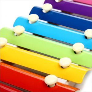 Xylophone Multicolore en Bois