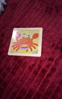 puzzle crabe en bois