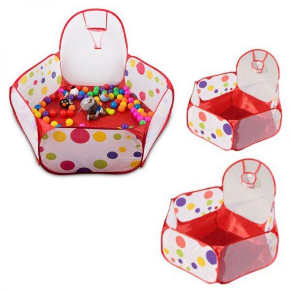 piscines à balles multicolores