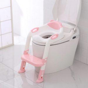 Siège de Toilette avec Echelle Réglable pour Enfants