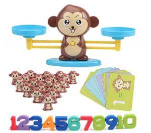singe balance apprendre à compter
