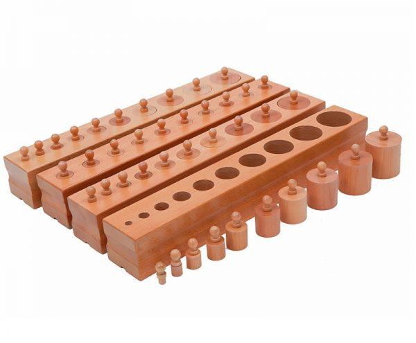 blocs de cylindres montessori