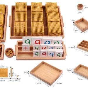 kit de boite de perles et des chiffres