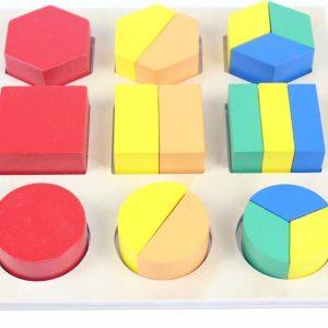 Puzzle des Fractions en Bois (grande taille)