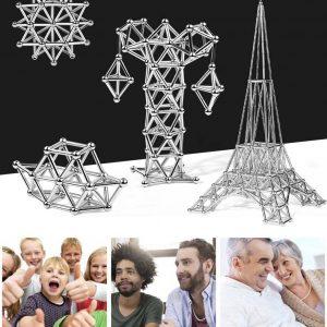 Jeu de Blocs de Construction Magnétique