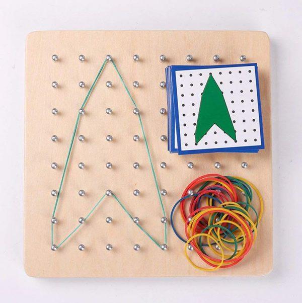 Géoboard Planche de Géométrie à Elastiques Montessori