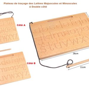 plateau de traçage des lettres Majuscules et minuscules