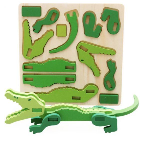 Gratuit Puzzle 3D Animal en Bois