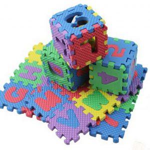 Tapis Puzzle avec 10 Chiffres et 26 Lettres