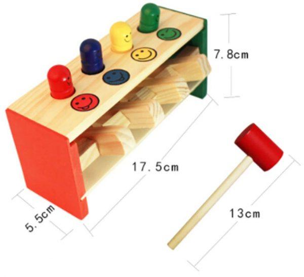 puzzle d'encastrements et boîte de perles à enfiler