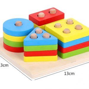 Puzzle d'Encastrement/Boîte de Perles à Enfiler/Boîte à Balles avec Marteau
