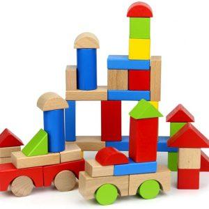 jeu de blocs construction en bois bebe