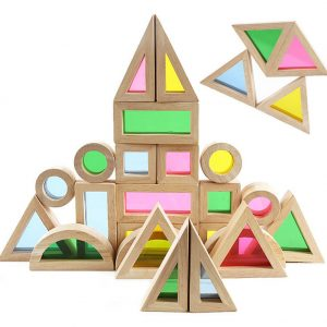 Arc-en-ciel acrylique en bois Montessori