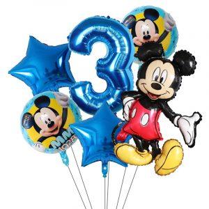 Ballons Décoratifs Licorne-Mickey-Minnie pour Fête