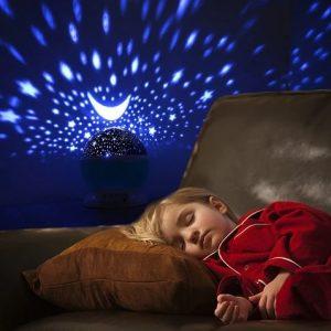 Veilleuse avec Projection d'étoiles Bébé