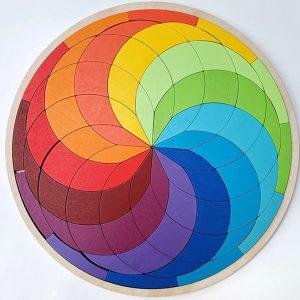 puzzle mosaique mandala-arc-en-ciel
